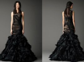 Rochia de mireasa neagra